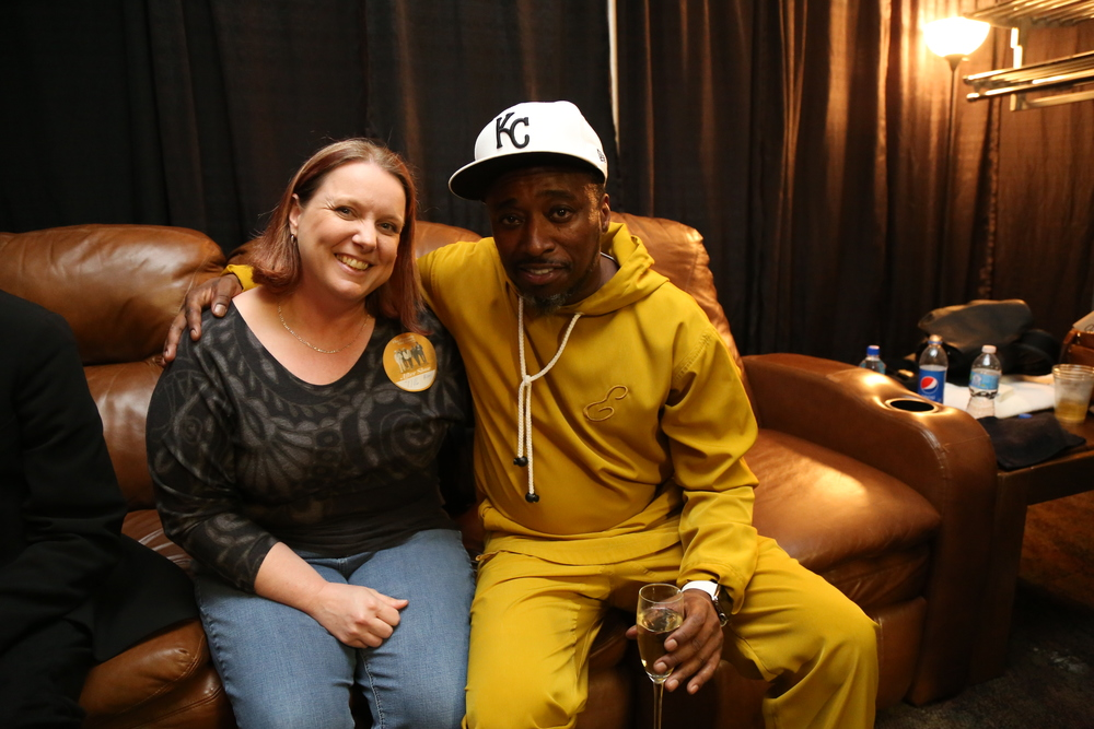 Kelly of Kelly's Cake and Eddie Griffin