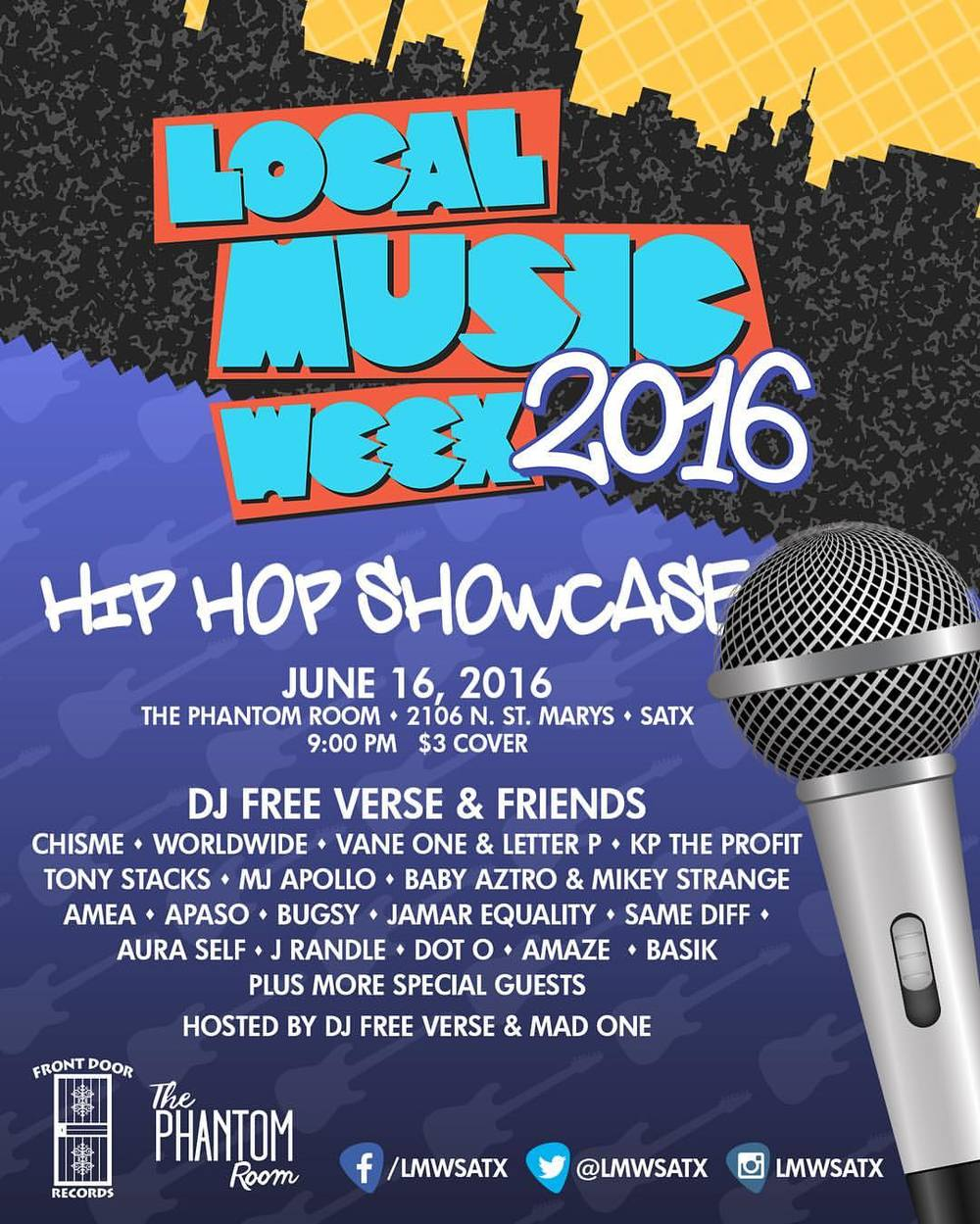 THE HOMIE DJ FREE VERSE HOSTING A SHOW FOR LOCAL MUSIC. LAST TIME THE TURN OUT WAS CRAZY MAKE SURE TO COME OUT TO THIS ONE.