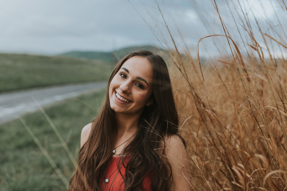 tall grass portrait girl