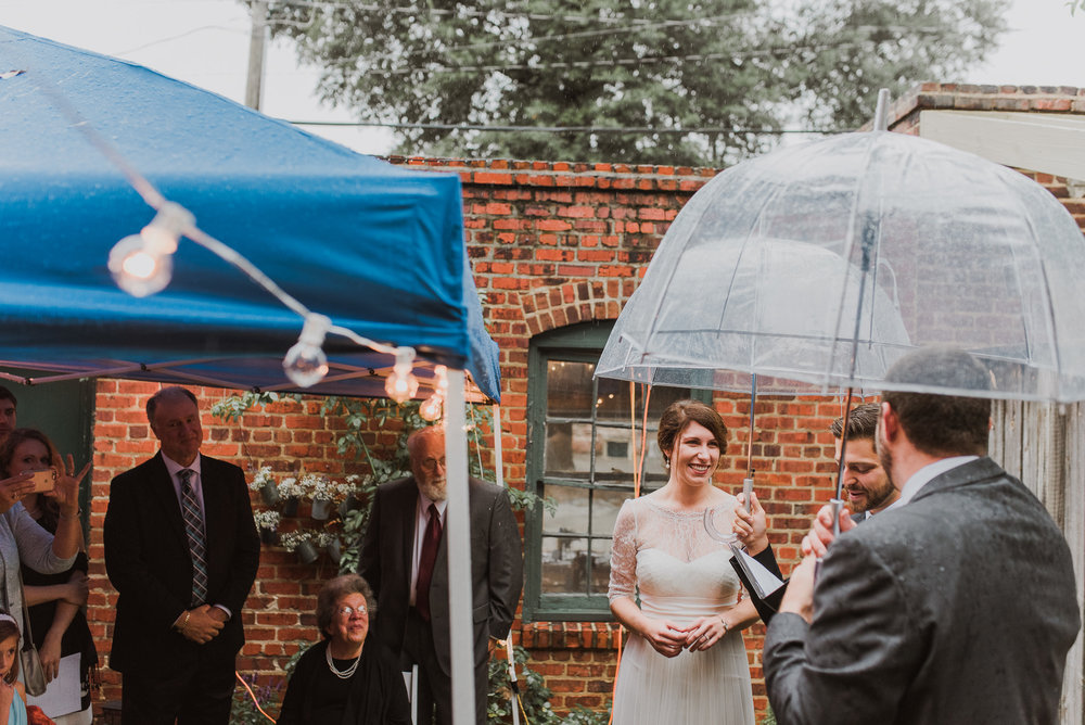 intimate Richmond backyard wedding