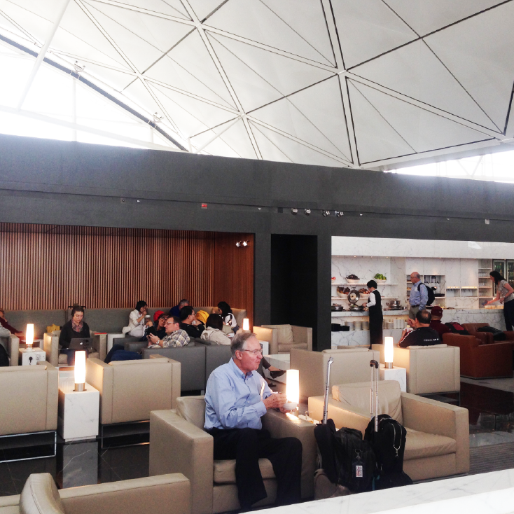 Observe what frequent flyers do at the  VIP lounge at the airport . Compare need between  business traveler and leisure traveler