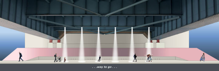 "A rendering of ""...Way to Go..."" by artist Sheila de Bretteville"