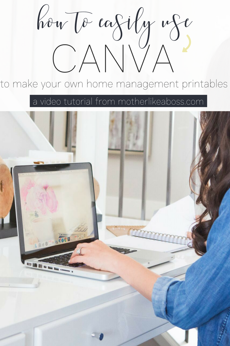 d6028e8c318 How to easily use Canva to make your own home management printables