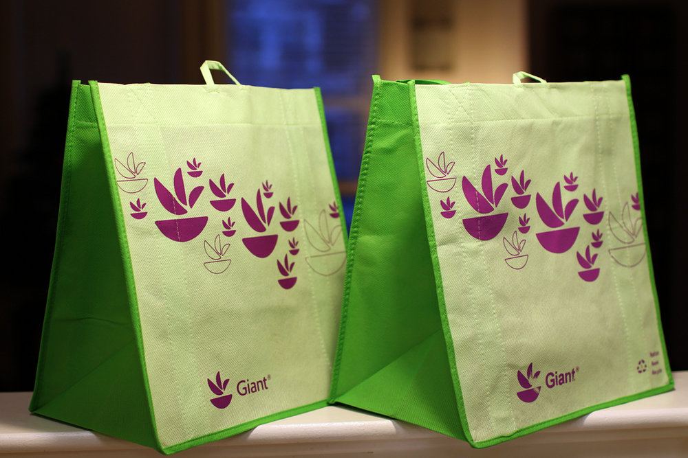 2. CARRY STORE BOUGHT GOODS IN TOTE BAGS -