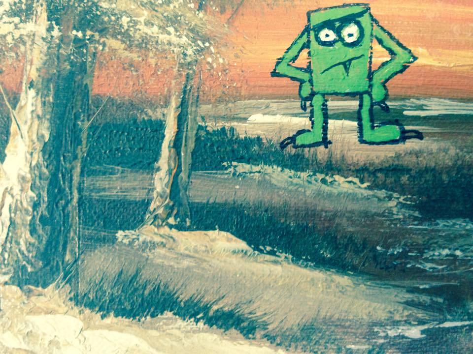 Green Monster in wilderness (detail)
