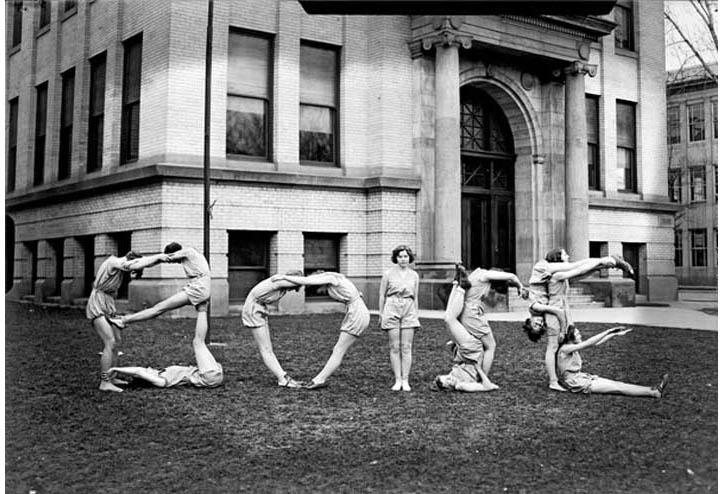 Boise High School Girls Tumbling Team, c. 1933, courtesy of the Idaho State Archives & Library.