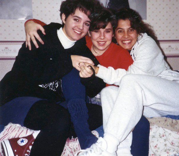 My, left, right after I liberated myself from my long hair, 1991.