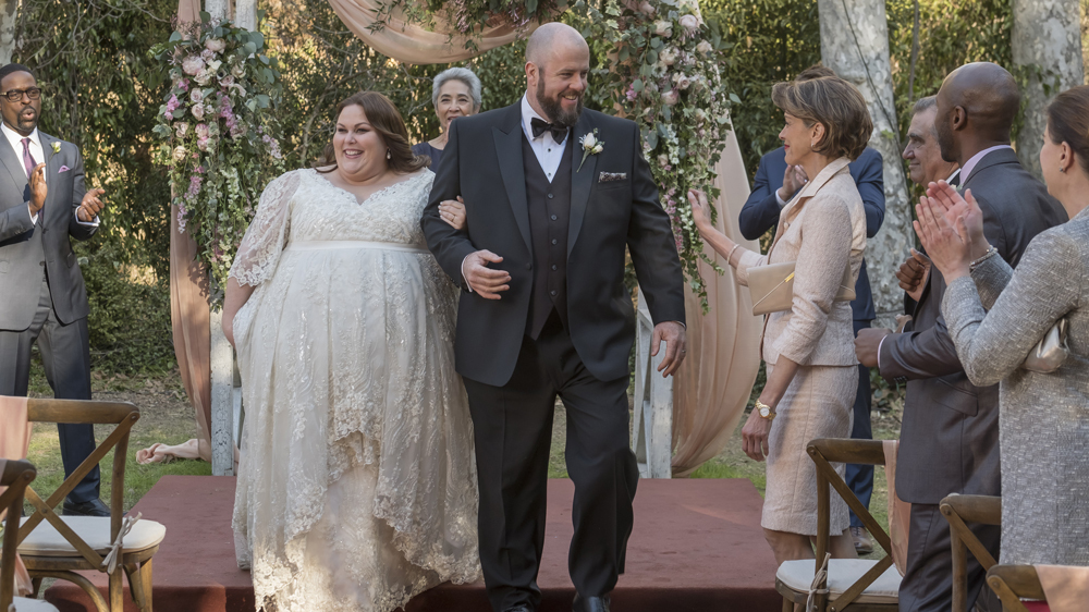 Kate and Toby's wedding, season 2 finale from earlier this week on This Is Us. Photo courtesy variety.com