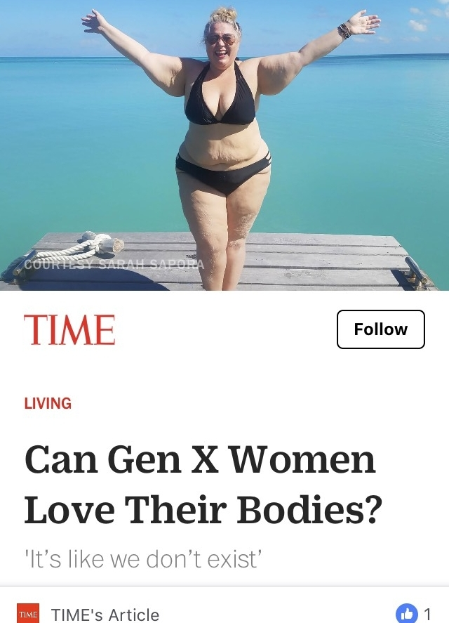 Read the TIME magazine article Can Gen X Women Love Their Bodies? in its entirety  here