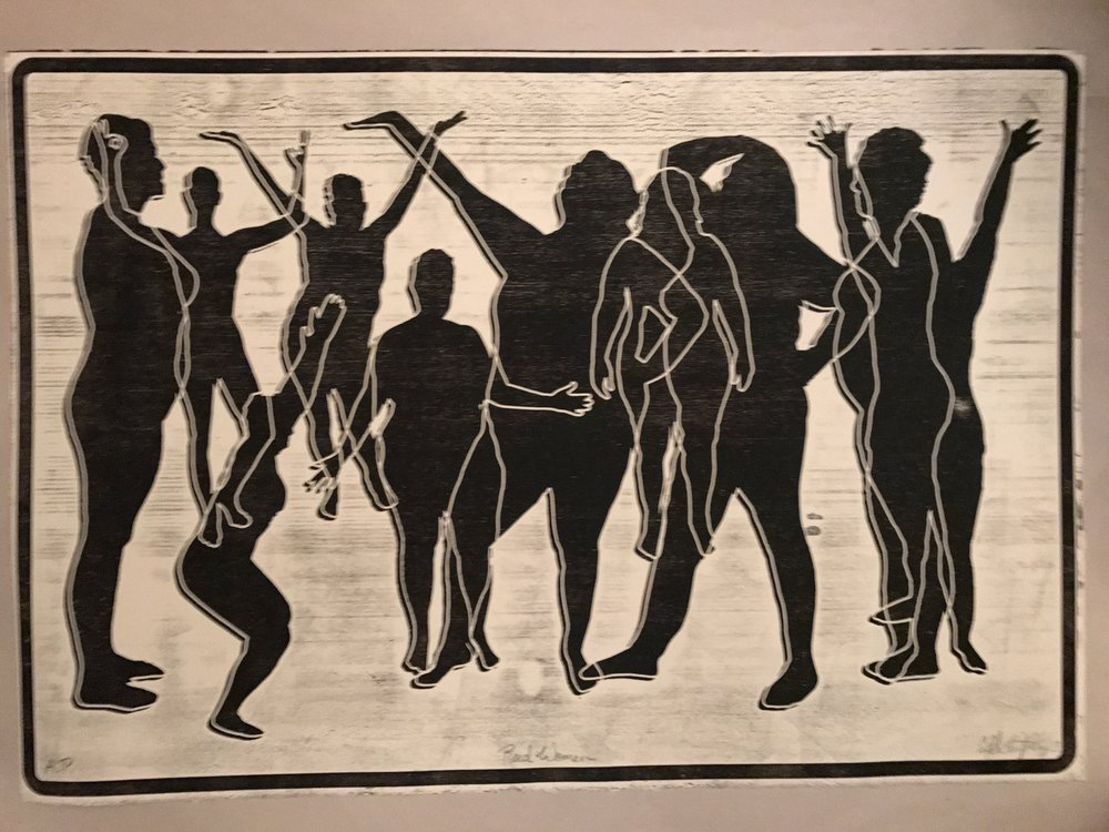 This print is titled  Rad Women  and made by artist Cassandra Schiffler based on tracings of the diverse bodies of women at my first  RADCAMP: A Body Positive Boot Camp for Feminists  in 2017. She gifted this to me and it now hangs in my home.