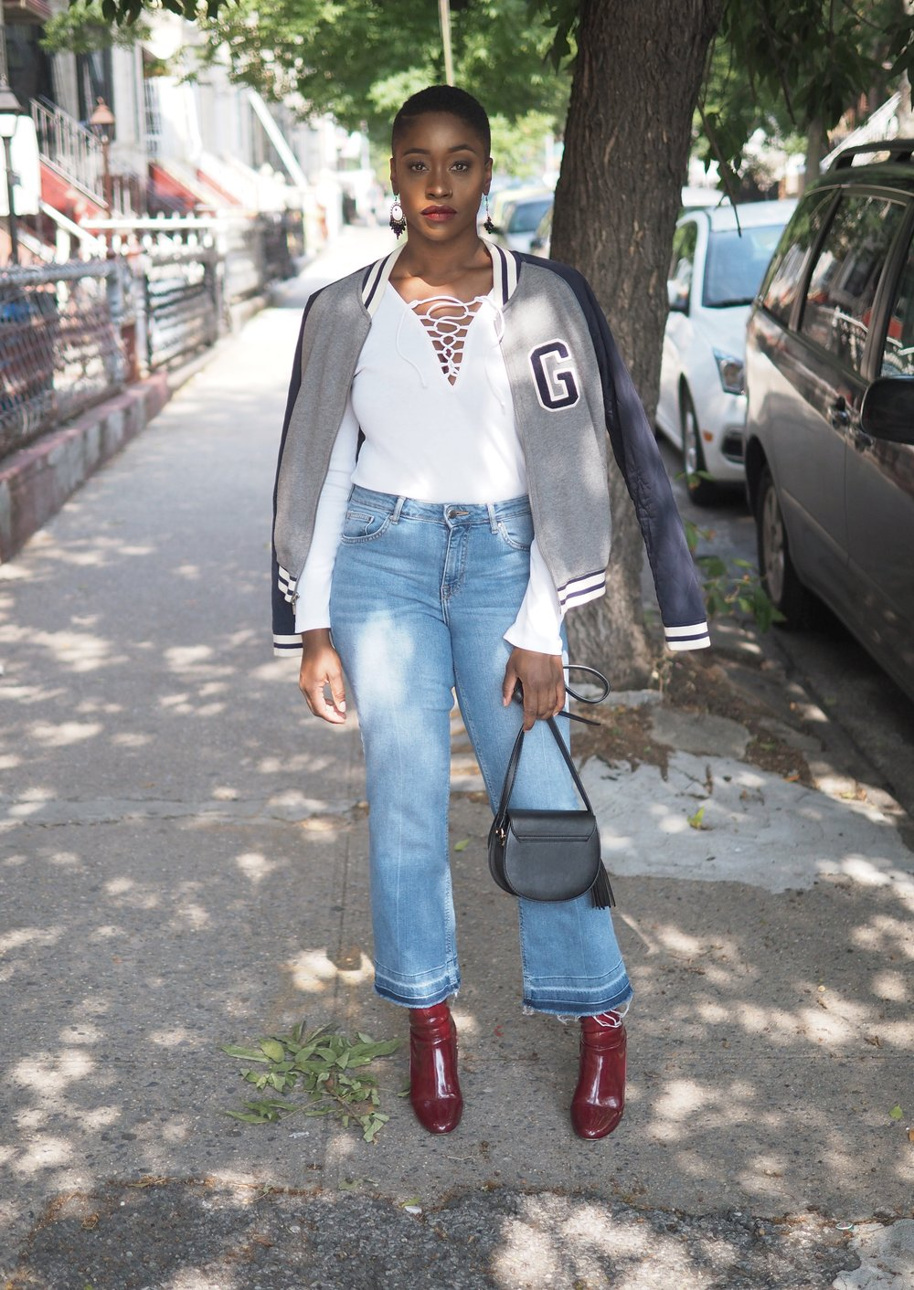 Fall Outfit Bomber Jacket