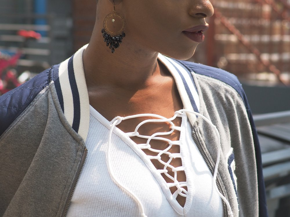 Fall Outfit Bomber Jacket  2