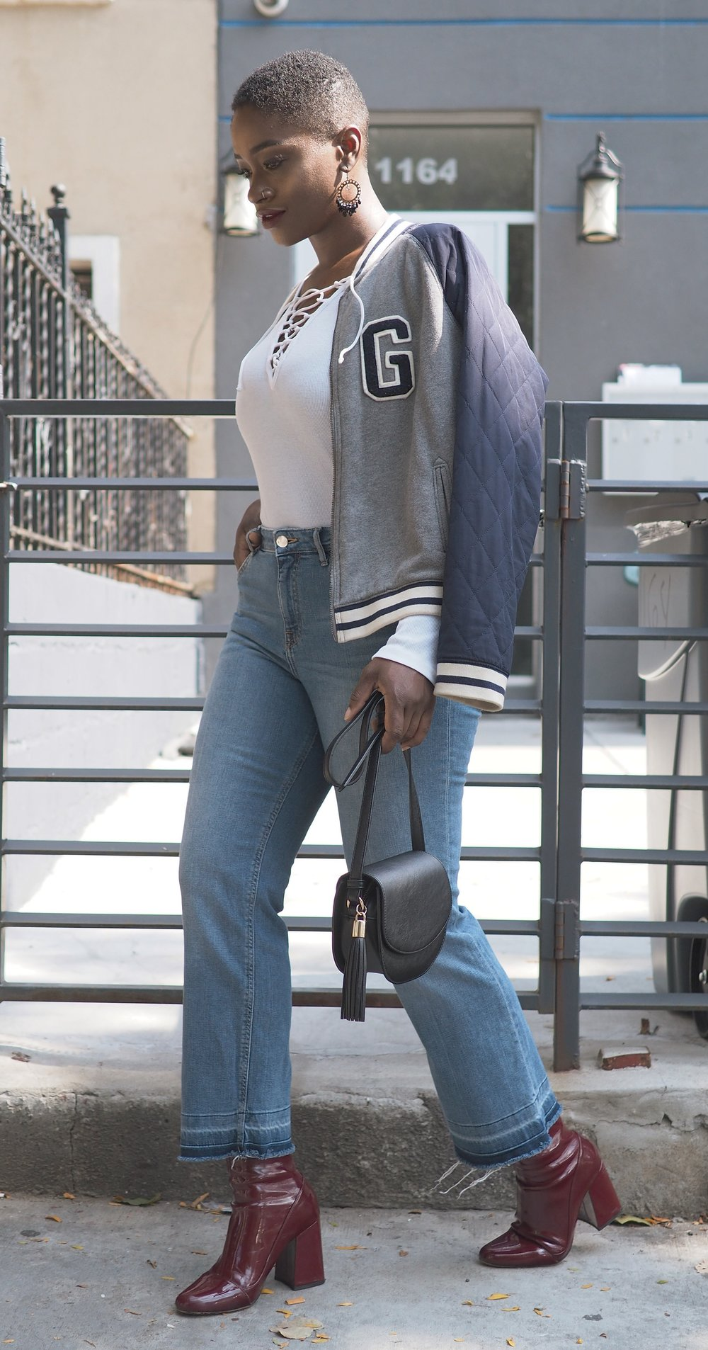 Fall Outfit Bomber Jacket 5
