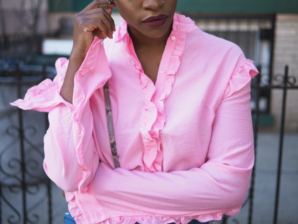 Pink Ruffle Top by The Language of Yolande