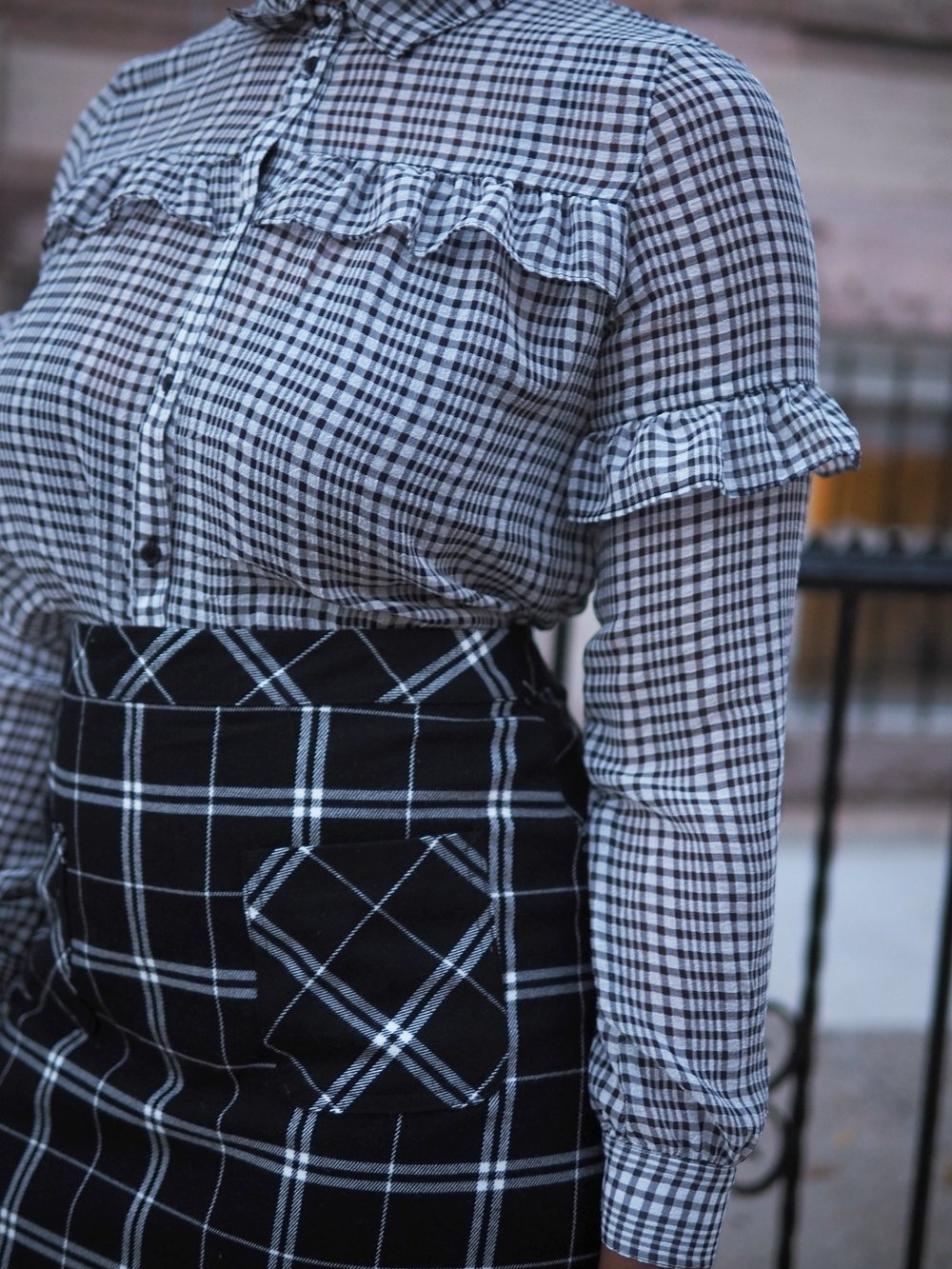 black & white plaid mix 3