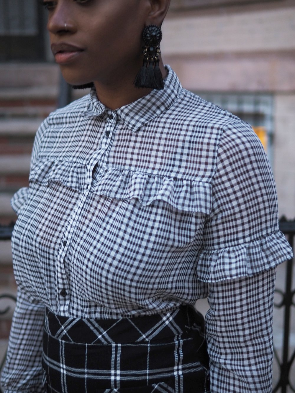 black & white plaid mix 6