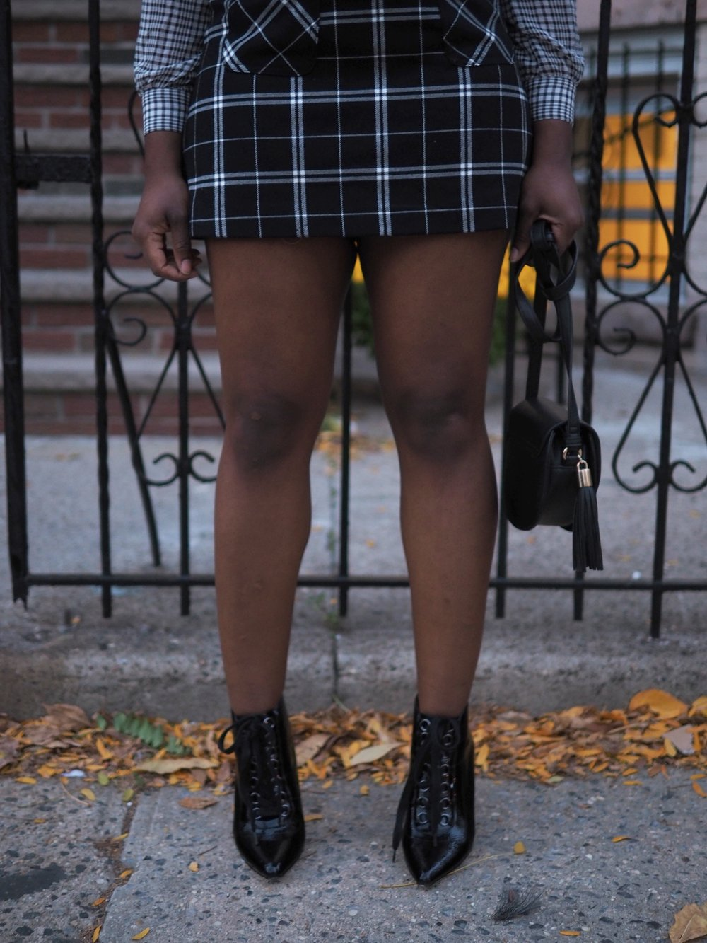 black & white plaid mix 8