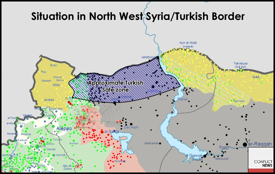 A map of the proposed Turkish 'Safe Zone'