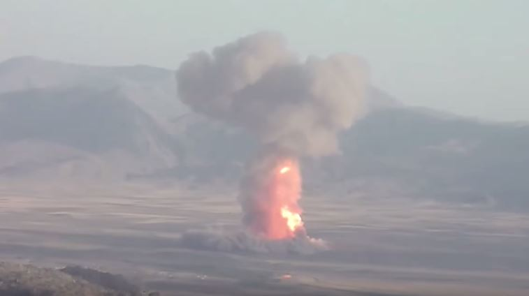 PKK fighters destroy a gas pipeline in Eastern Turkey