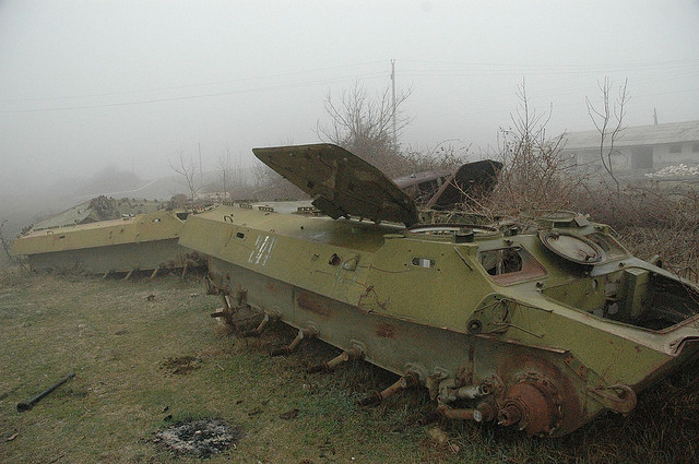 Azeri tanks in Karabakh