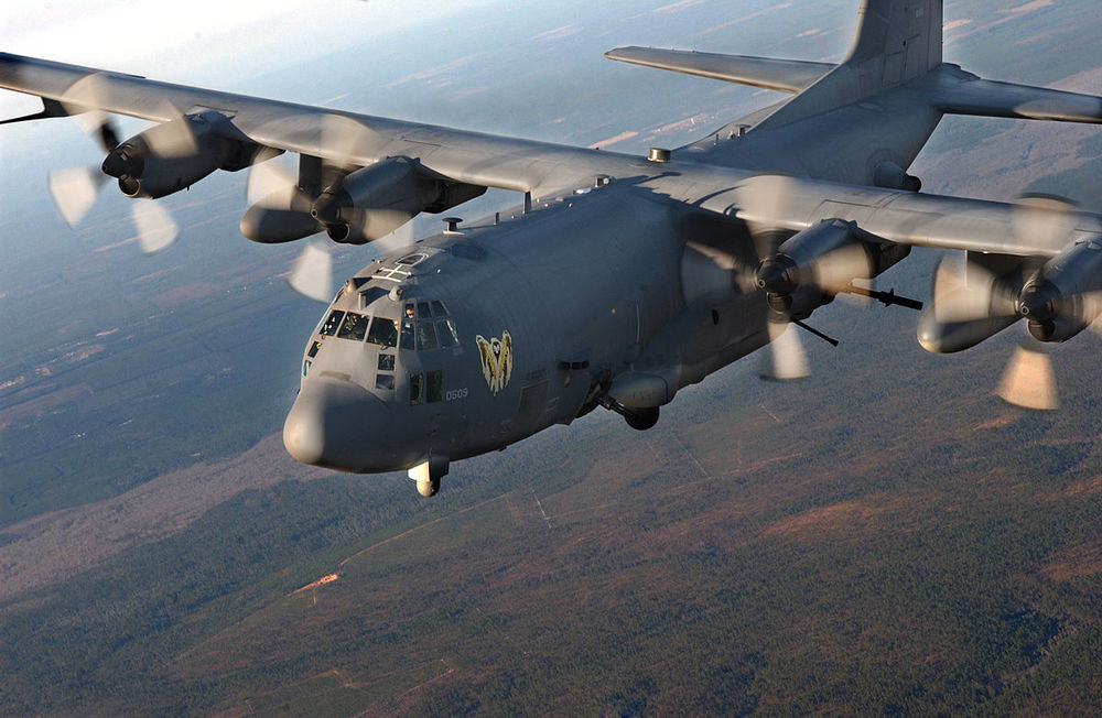 An AC-130 gunship supported SDF operations against ISIS.