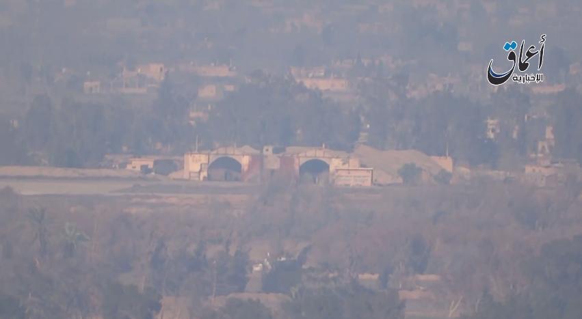 The hangers of Deir Ez-Zor airbase