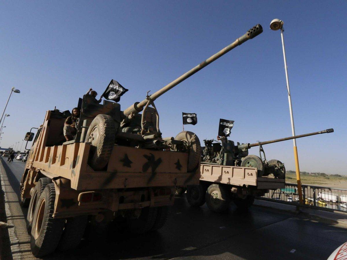 An ISIS AKP S-60 anti-air cannon