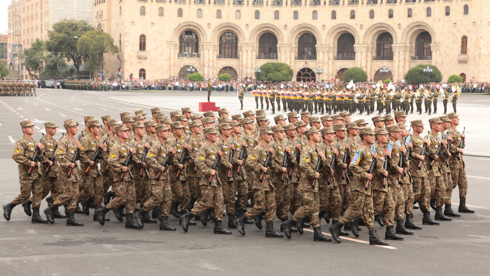 Armenian soldiers on parade in Yerevan. Image: Armenian Ministry of Defence
