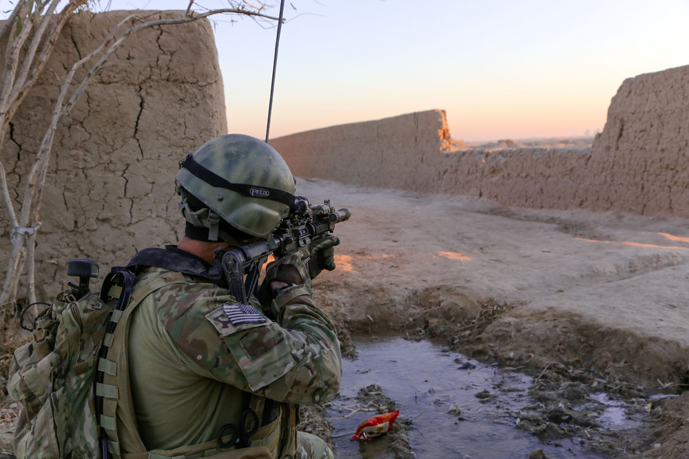 A Special Forces Operation Detachment-Alpha soldier on patrol. Image: US Army.