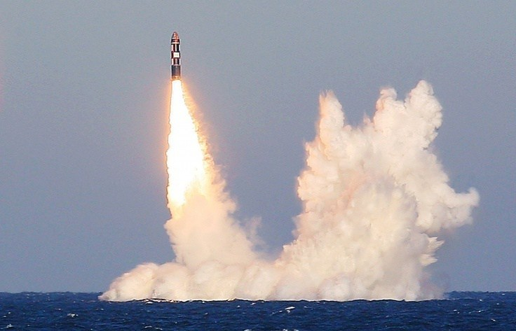 A Bulava SLBM fired from a Borei-class SSBN. © Press service of the Western Military District of the Northern Fleet/Archive