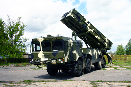Polonez Multiple Launch Rocket System. Image courtesy of the Belarus State Military Industrial Committee