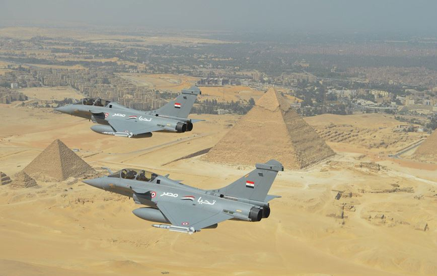 Egyptian Rafale Jets. Image courtesy of manufacturer Dassault Aviation.