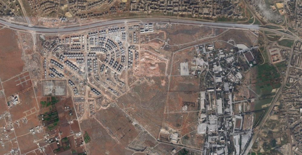 Satellite imagery of the areas where fighting is the most fierce in Southern Aleppo. (Google Earth/Digital Globe)