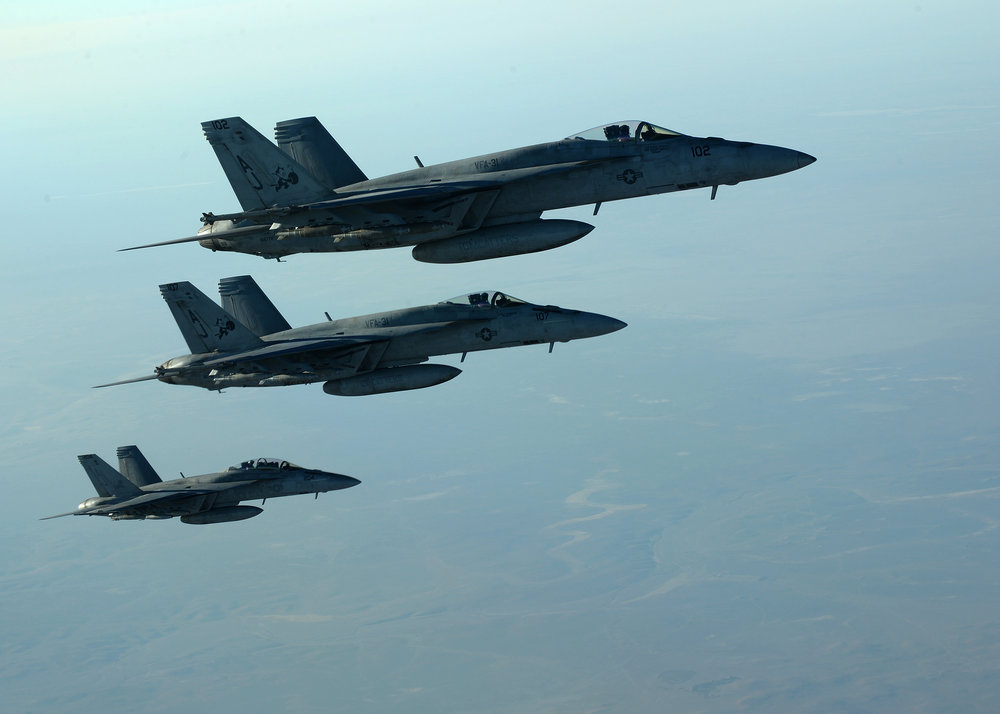 US are already in the skies of Syria as part of Operation Inherent Resolve. Image: US DoD.