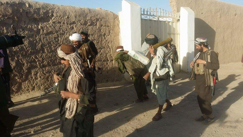Image released by official Taliban media of their fighters near Tarin Kowt.