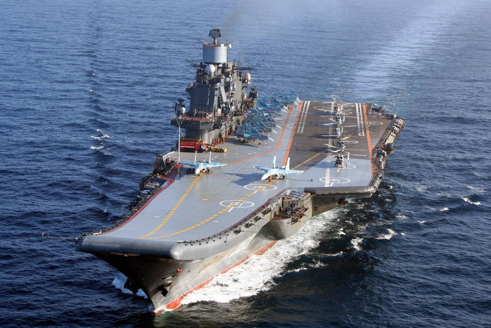 The Admiral Kuznetsov at sea. Image: Russian Ministry of Defense.