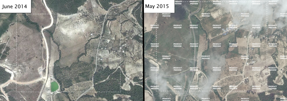 Syria-Turkey border near Güvecci in 2014 and 2015