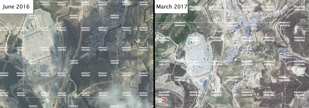 Turkey - Syria border near Güvecci in 2016 and 2017