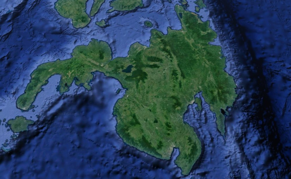 Marawi city is located on the Philippine island of Mindanao (pictured). Image: Google Earth.