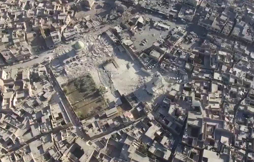 The al-Nuri Mosque was destroyed by ISIS last week.