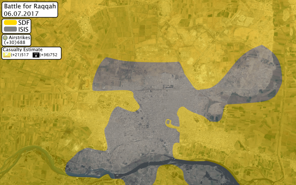 Situation in Raqqah city as of 06. July 2017