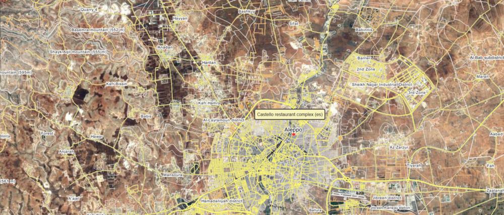 Location of the rough area where the attack occurred, via wikimapia.org