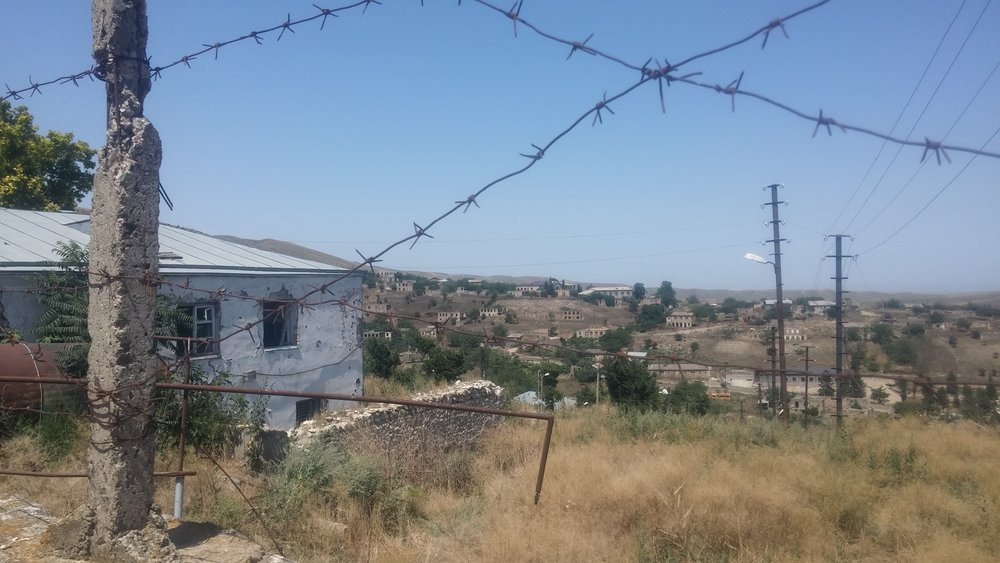 The Karabakh Line of Contact viewed from Talish. Image: Michael Cruickshank