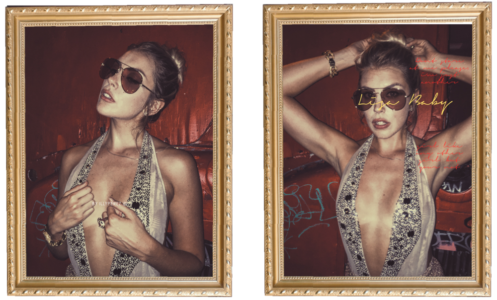 Sunglasses at  @SpinGallery  &  StyleLink Miami   Sequin Bodysuit