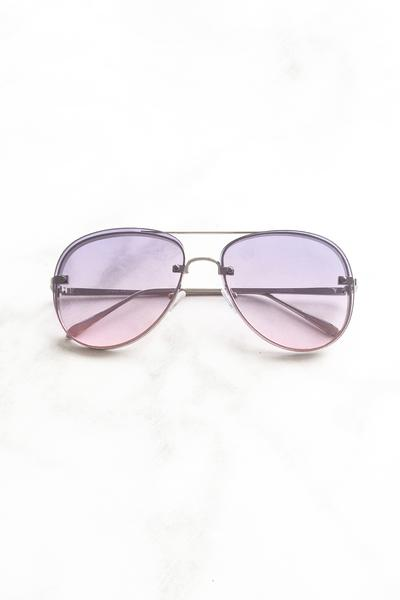Purple Two Toned Lens Aviator Sunglasses