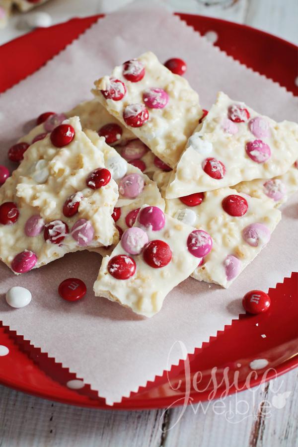 Valentine Krispie Bark