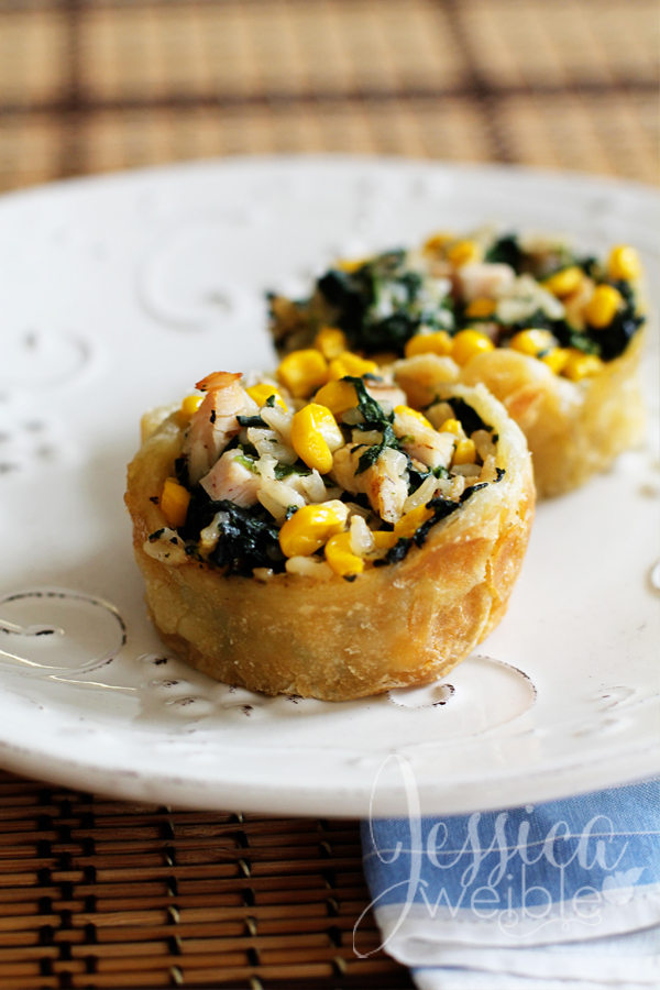 Chicken Spinach Cups