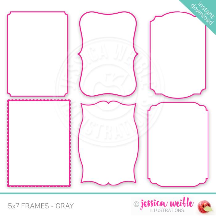 5x7 frames pink