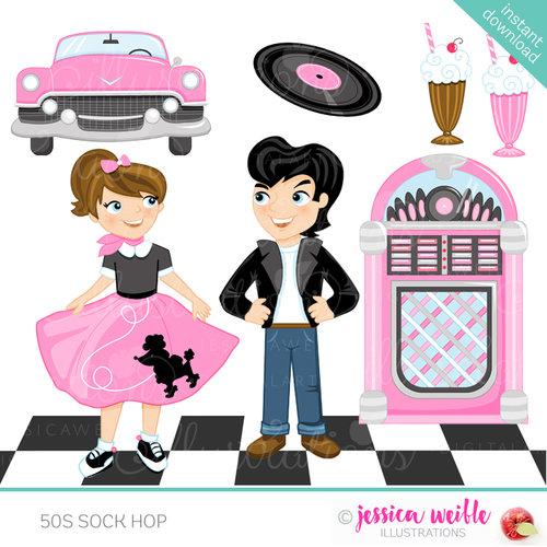50s Sock Hop — JW Illustrations