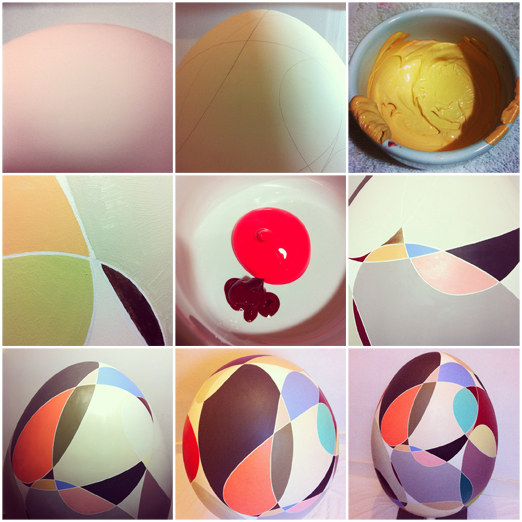 I painted a giant egg   http://www.thebigegghunt.co.uk
